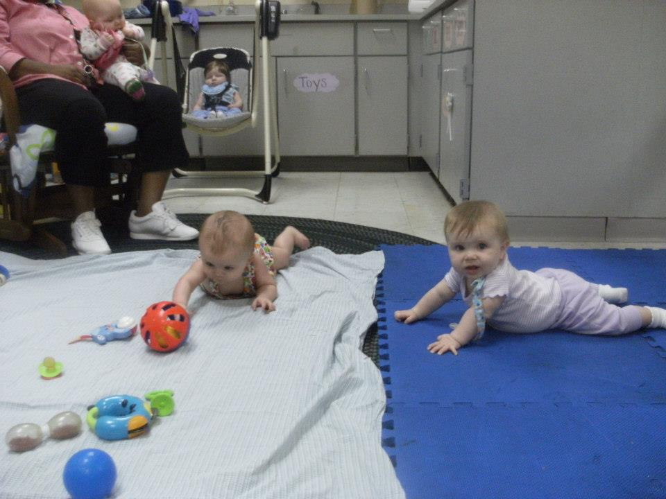 babies during tummy time at a Preschool & Daycare Serving Greenville, AL