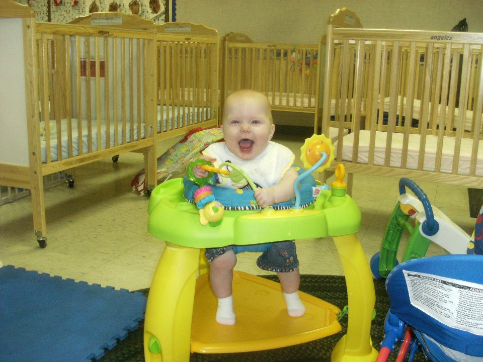 baby laughing at a Preschool & Daycare Serving Greenville, AL