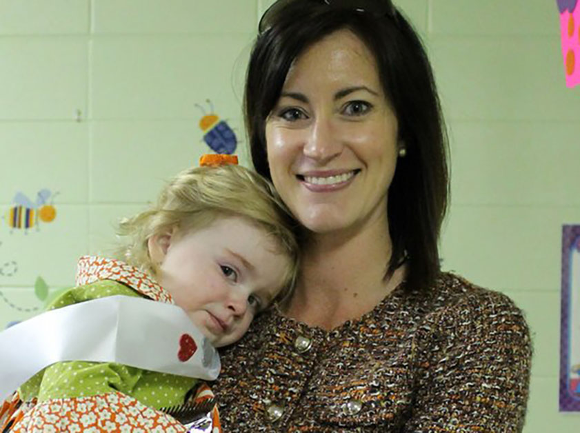 mom with her toddler at a Preschool & Daycare Serving Greenville, AL