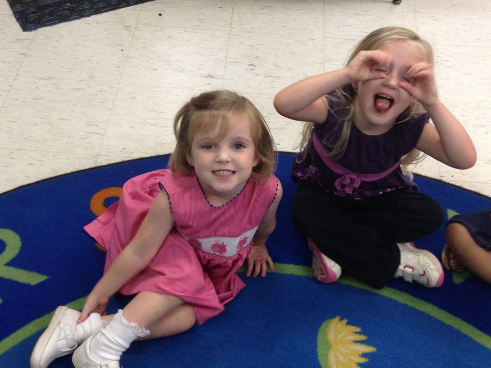 smiling toddler girls at a Preschool & Daycare Serving Greenville, AL