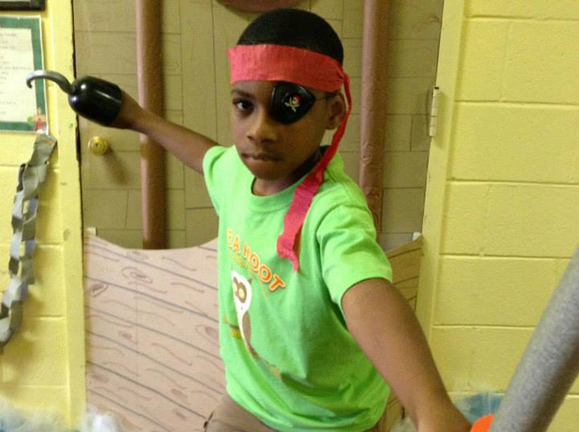young boy in pirate costume at a Preschool & Daycare Serving Greenville, AL