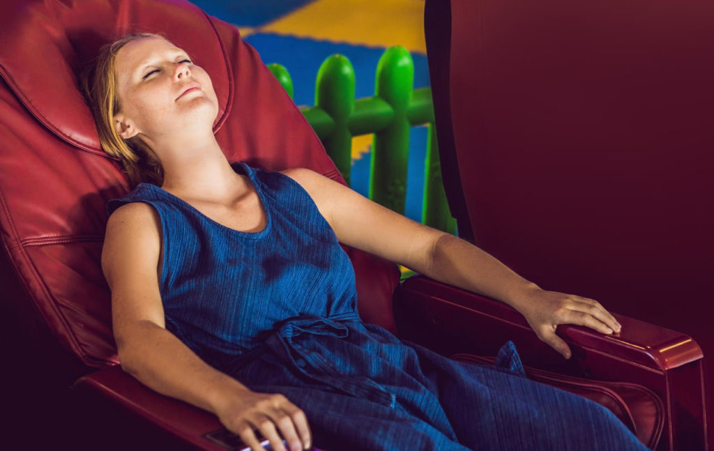Take a Load Off With Our Massage Chair On-Site - Preschool & Daycare Serving Greenville, AL